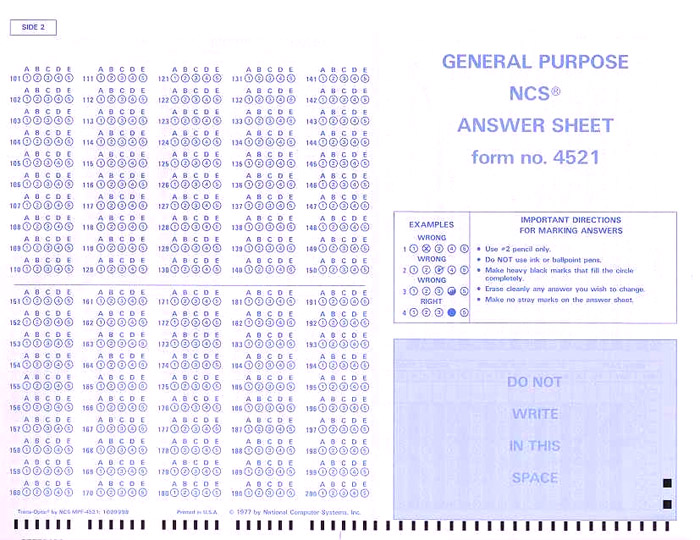 image about Printable Scantron Form named Scanning and Scoring Scantron Assessments for University